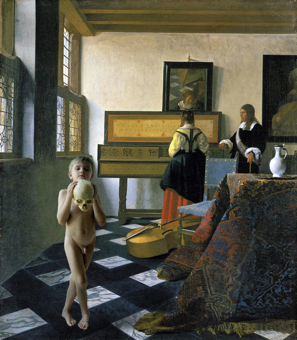 Vermeer Ignatius at the Music Lesson 1662 64