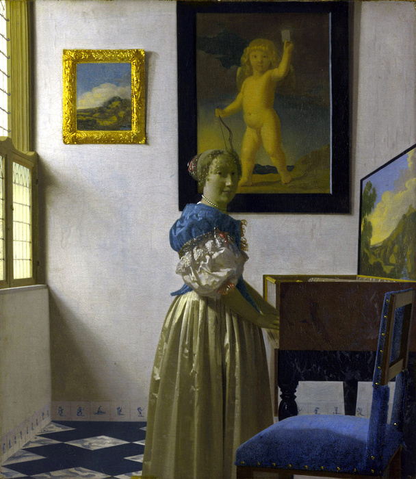 Vermeer Lady at Virginals 1673 75