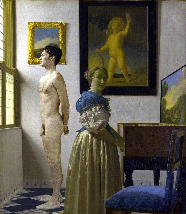 Vermeer Lady at Virginals 1673 75 Revised