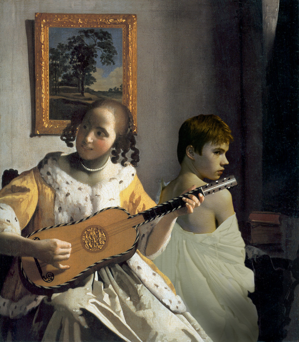 Vermeer Franciscus and Guitar Player