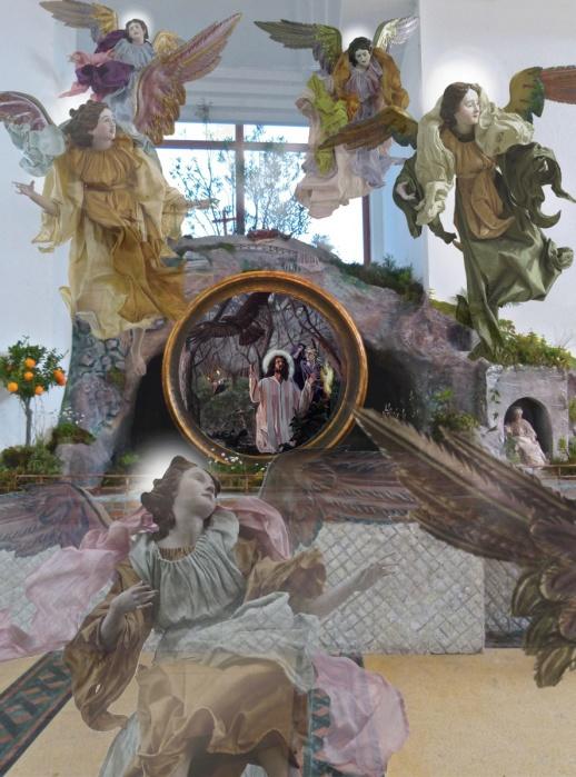 Gesù e Ganimede Grotta Della Resurrezione Con Angeli
