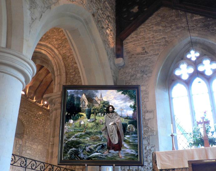 Durand\\\'s Christ Walking the Floodtide Bosham